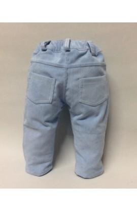 Pantalon largo pana azul