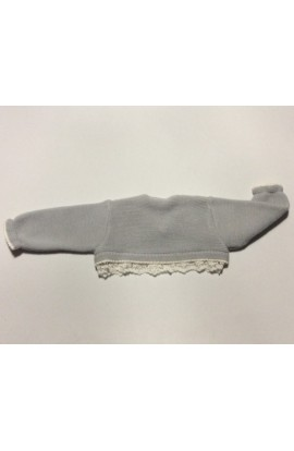 Chaqueta gris corta